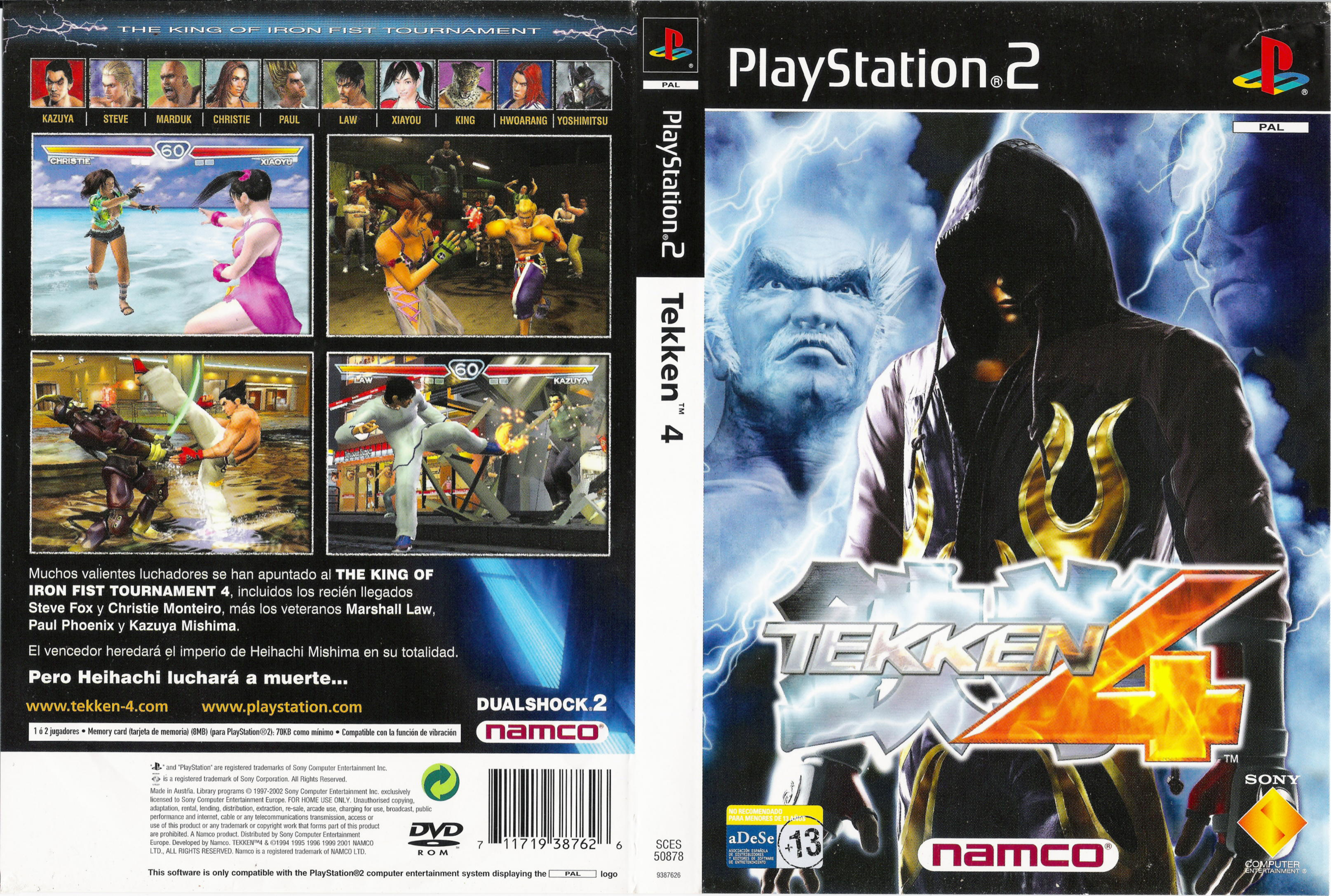 Tekken 4 Cover Caratula Playstation 2 Ps2covers